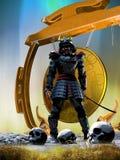 Guerreiro do samurai Fotos de Stock Royalty Free