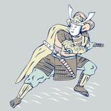Guerreiro do samurai Imagens de Stock