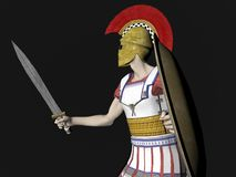 Guerreiro espartano ou romano grego Fotografia de Stock Royalty Free