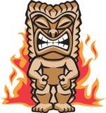 Guerreiro feroz Tiki Foto de Stock