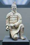 Guerreiro indicado em um museu, Xian da terracota, China imagens de stock royalty free