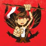 Guerreiro indonésio do patriota dos heróis nacionais Imagens de Stock Royalty Free