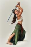 Guerreiro japonês da menina Imagem de Stock