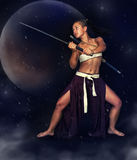 Guerreiro japonês da menina Foto de Stock