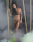 Guerreiro na selva Fotos de Stock Royalty Free