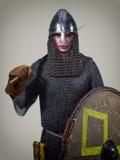 Guerreiro novo da Idade Média adiantada fotografia de stock