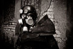 Guerreiro postnuclear blindado Imagem de Stock