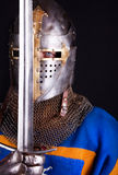 Guerreiro que prende uma espada Fotografia de Stock Royalty Free