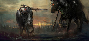 guerreiros ilustração royalty free