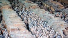 Guerreiros da terracota em Xian, China Imagens de Stock