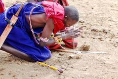 Guerreiros do Masai Imagem de Stock Royalty Free