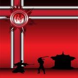 Guerreiros do samurai ilustração stock