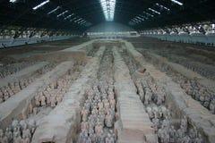 Guerreiros do Terracotta - Xian (X fotografia de stock