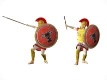 Guerreiros espartanos 2 ilustração royalty free