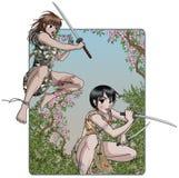 Guerreiros fêmeas Foto de Stock Royalty Free