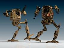 Guerreiros mecânicos Imagem de Stock