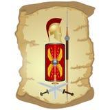 Guerrero armado de Roma antigua stock de ilustración