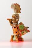 Guerrero azteca foto de archivo libre de regalías
