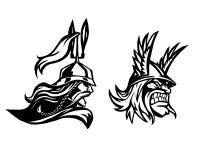 guerrero Cabeza del bárbaro Perfil del guerrero Imagen de archivo libre de regalías