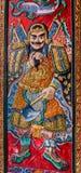 Guerrero chino en el panel de la puerta Fotos de archivo libres de regalías