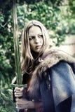Guerrero de la mujer con la espada Fotos de archivo