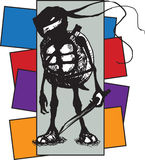 Guerrero de la tortuga Fotografía de archivo libre de regalías