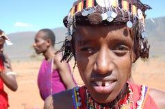 Guerrero de Maasai imagen de archivo
