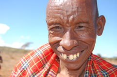Guerrero de Maasai fotografía de archivo