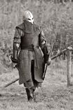 Guerrero de Vikingo (B&W). Fotos de archivo libres de regalías
