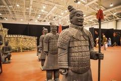 Guerrero del ejército de la terracota en el festival del Oriente en Roma Italia imagenes de archivo