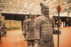 Guerrero del ejército de la terracota en el festival del Oriente en Roma Italia fotos de archivo
