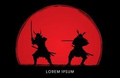 Guerrero del samurai con la espada libre illustration