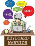 Guerrero del teclado Imagen de archivo libre de regalías