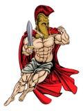 Guerrero espartano Imagen de archivo libre de regalías