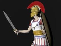 Guerrero espartano o romano griego Fotografía de archivo libre de regalías