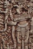 Guerrero indio maya Fotos de archivo