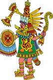 Guerrero maya aislado Imágenes de archivo libres de regalías