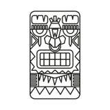Guerrero maya diseñado stock de ilustración