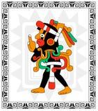Guerrero maya en blanco Foto de archivo libre de regalías