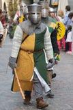 Guerrero medieval Foto de archivo libre de regalías