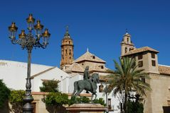 Guerrero Munoz Plaza, Antequera, Spain. Stock Photography