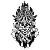 Guerrero nativo femenino stock de ilustración