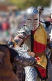 Guerrero que se lanza Fotos de archivo
