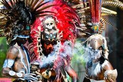 Guerreros antiguos mayas Foto de archivo libre de regalías