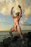 Guerreros de la isla de pascua fotos de archivo