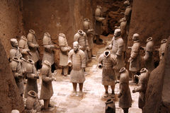 Guerreros de la terracota en Xian, C Imagenes de archivo