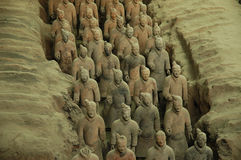 Guerreros de la terracota, Xi'an Fotografía de archivo libre de regalías