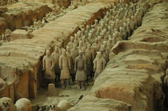 Guerreros de la terracota, Xian Fotos de archivo
