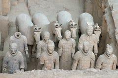 Guerreros de la terracota, Xian China Imagen de archivo libre de regalías