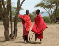 Guerreros del Masai Imagenes de archivo